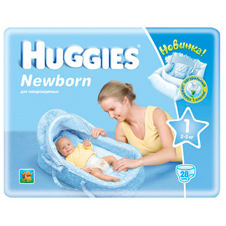Подгузники Huggies Newborn 1 (2-5 кг) Small Pack 28 шт
