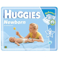 Подгузники Huggies Newborn 2 (3-6 кг) Jumbo Pack 66 шт.