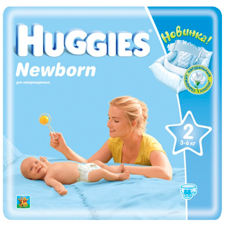 Подгузники Huggies Newborn 2 (3-6 кг) Mega Pack  88 шт.