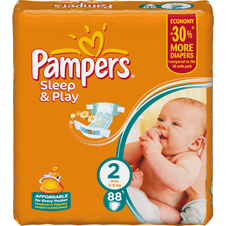 Подгузники Pampers® Sleep&Play 2 (3-6 кг) mini 88шт
