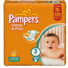 Подгузники Pampers® Sleep&Play 3 midi ( 4-9 кг), 100 шт.