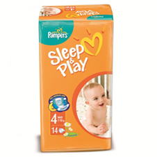 Подгузники Pampers® Sleep&Play 4 maxi (9-14 кг), 14  шт.