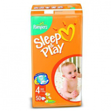 Подгузники Pampers® Sleep&Play 4 maxi (9-14 кг), 50 шт.