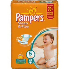 Подгузники Pampers® Sleep&Play 5 junior (11-25 кг), 74 шт.
