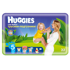 Подгузники Huggies Little walker 5 (13-17 кг)Jumbo Pack 32 шт.