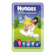 Подгузники Huggies Little walker 6 (16-22 кг) Conv Pack 13 шт.
